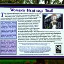 Women's Heritage Trail sign, Harriet LaFetra